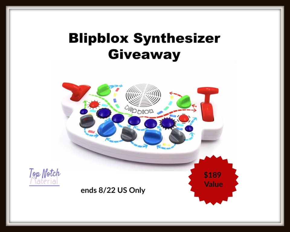 #Win a Blipblox Synthesizer $189 arv, US only, ends 8/22