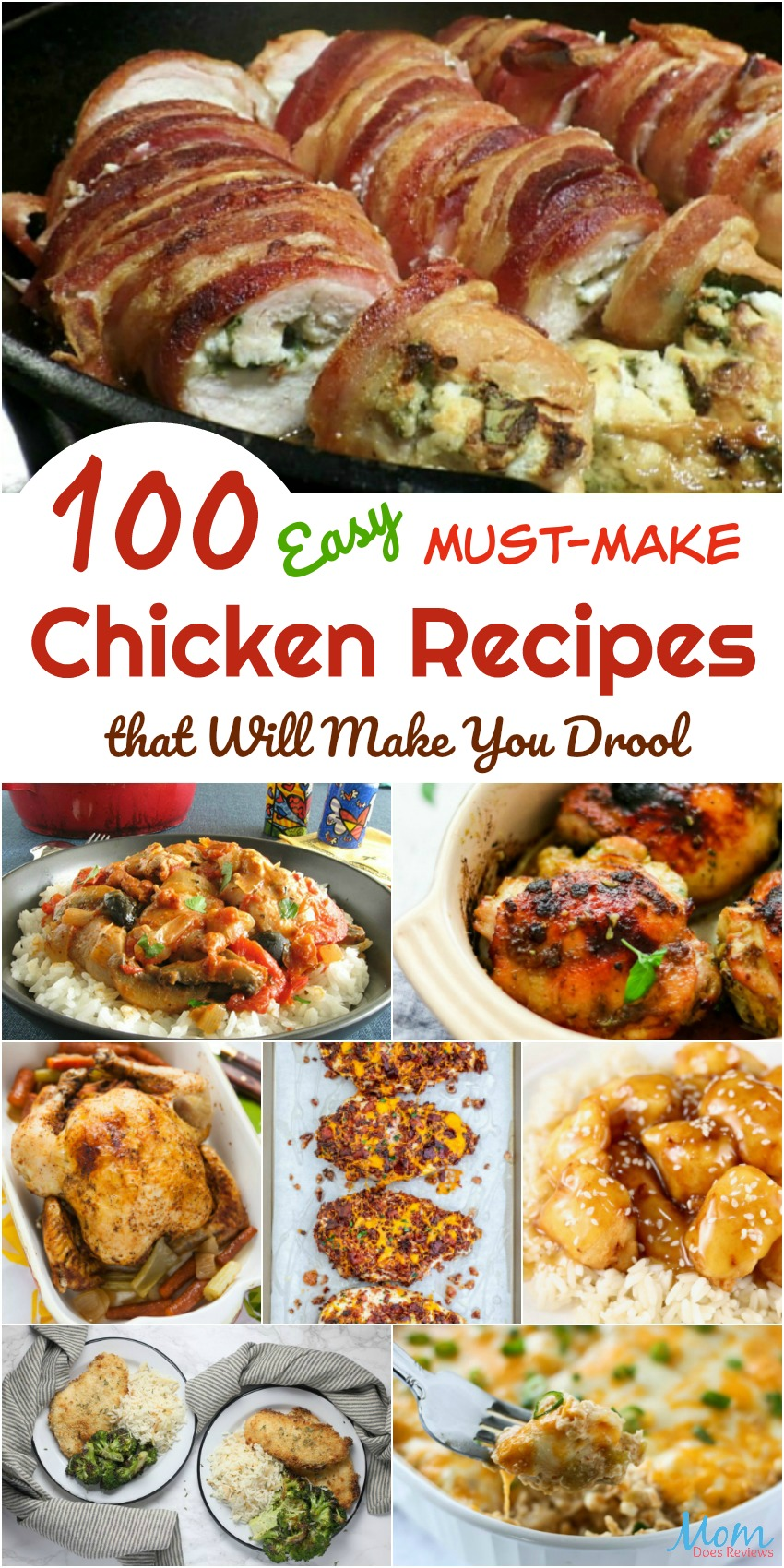 100 Easy Must-Make Chicken Recipes that Will Make You Drool #recipes #chicken #foodie