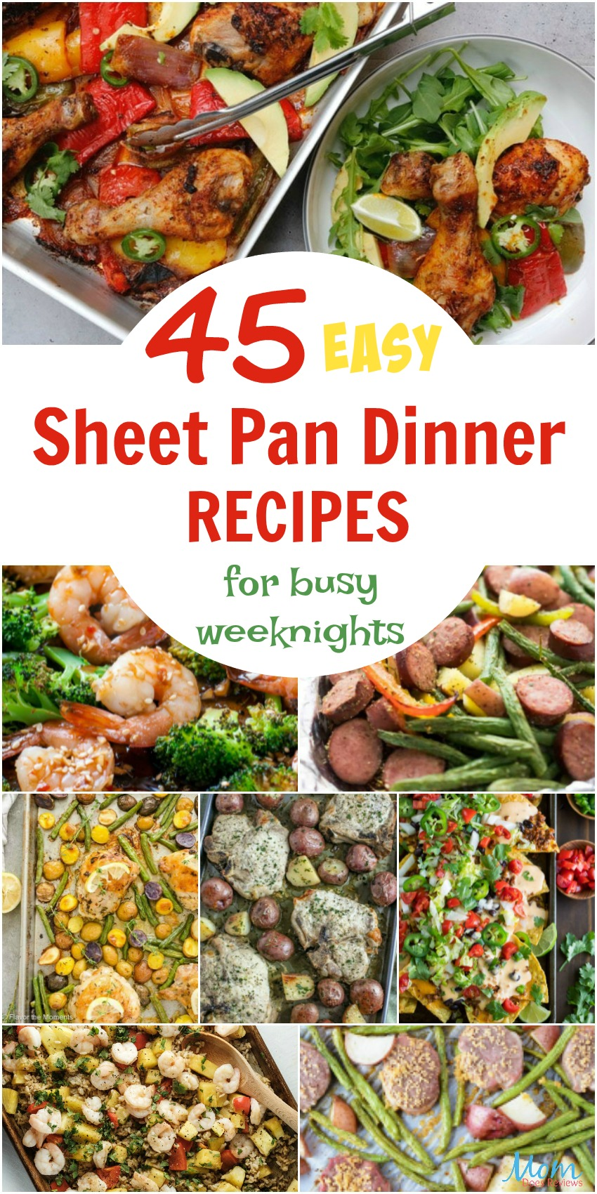 45 Easy Sheet Pan Dinner Recipes for Busy Weeknights #recipes #sheetpanrecipes #easymeals