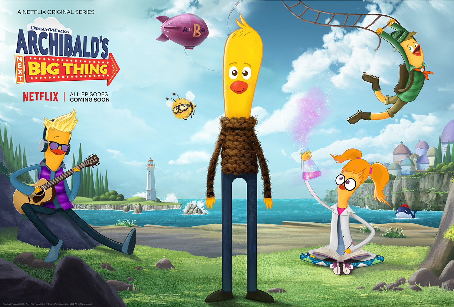 DreamWorks Animation Archibald's Next Big Thing Hatches Now on Netflix!