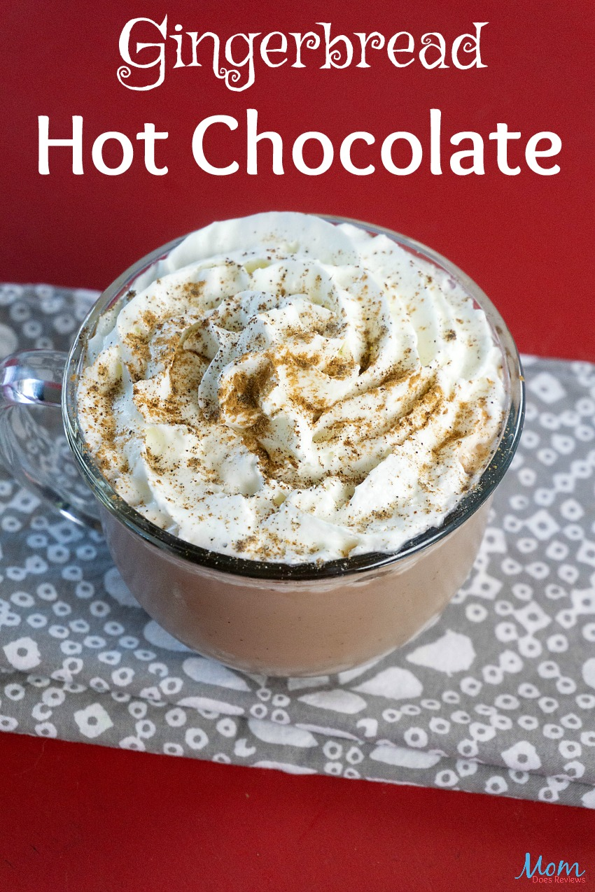Gingerbread Hot Chocolate Recipe #christmas #gingerbread #foodie