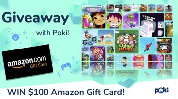 #Win $100 Amazon GC #PokiGiveaway