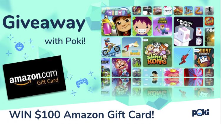 #Win $100 Amazon GC with Poki! #PokiGiveaway
