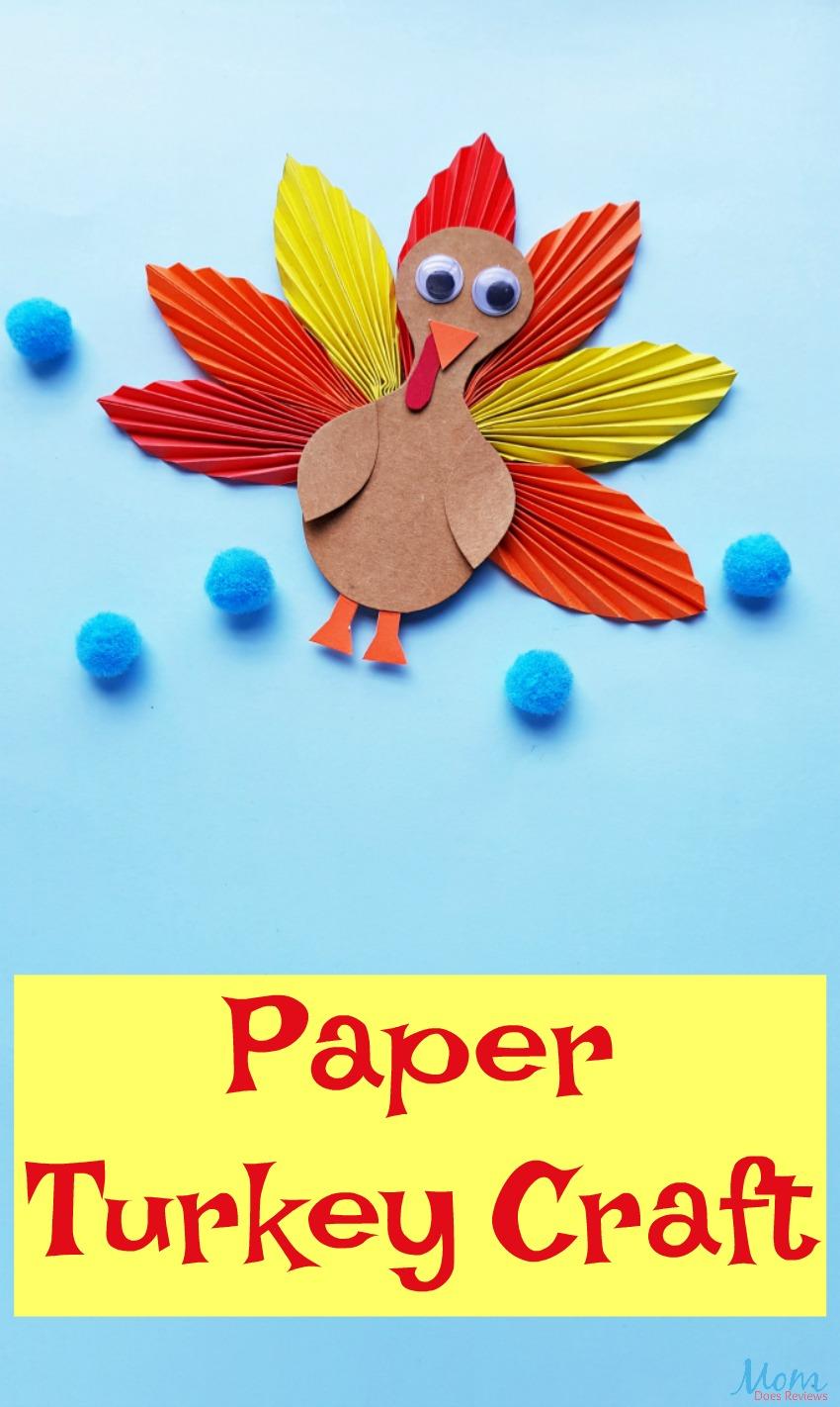 Fun Paper Turkey Craft for the Kids this Thanksgiving! #craft #turkey #funstuff