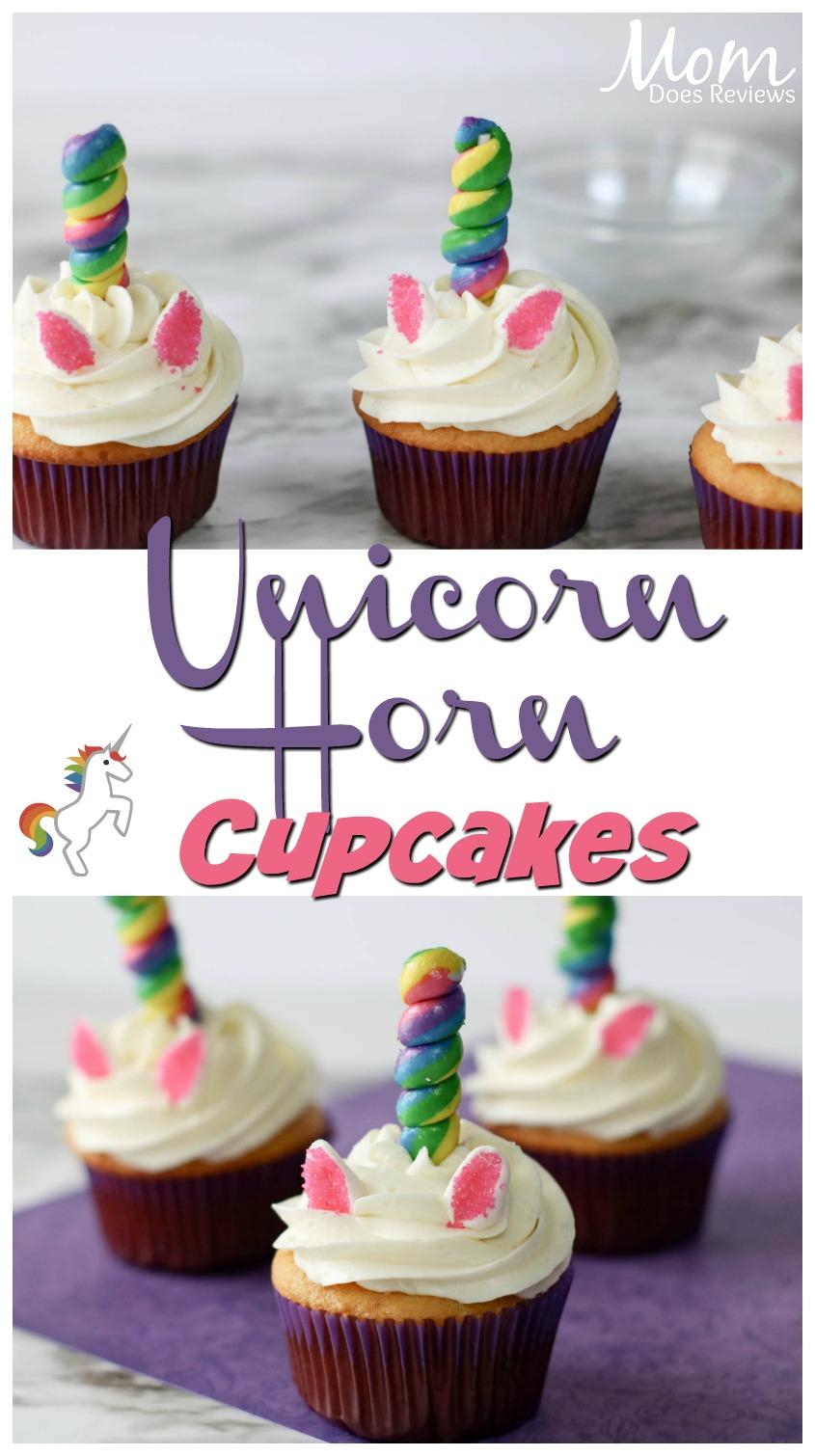 Unicorn Horn Cupcakes #funfood #cupcakes #desserts