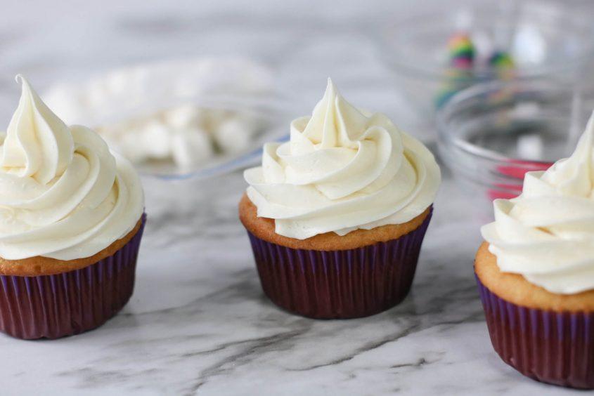 Unicorn Horn Cupcakes