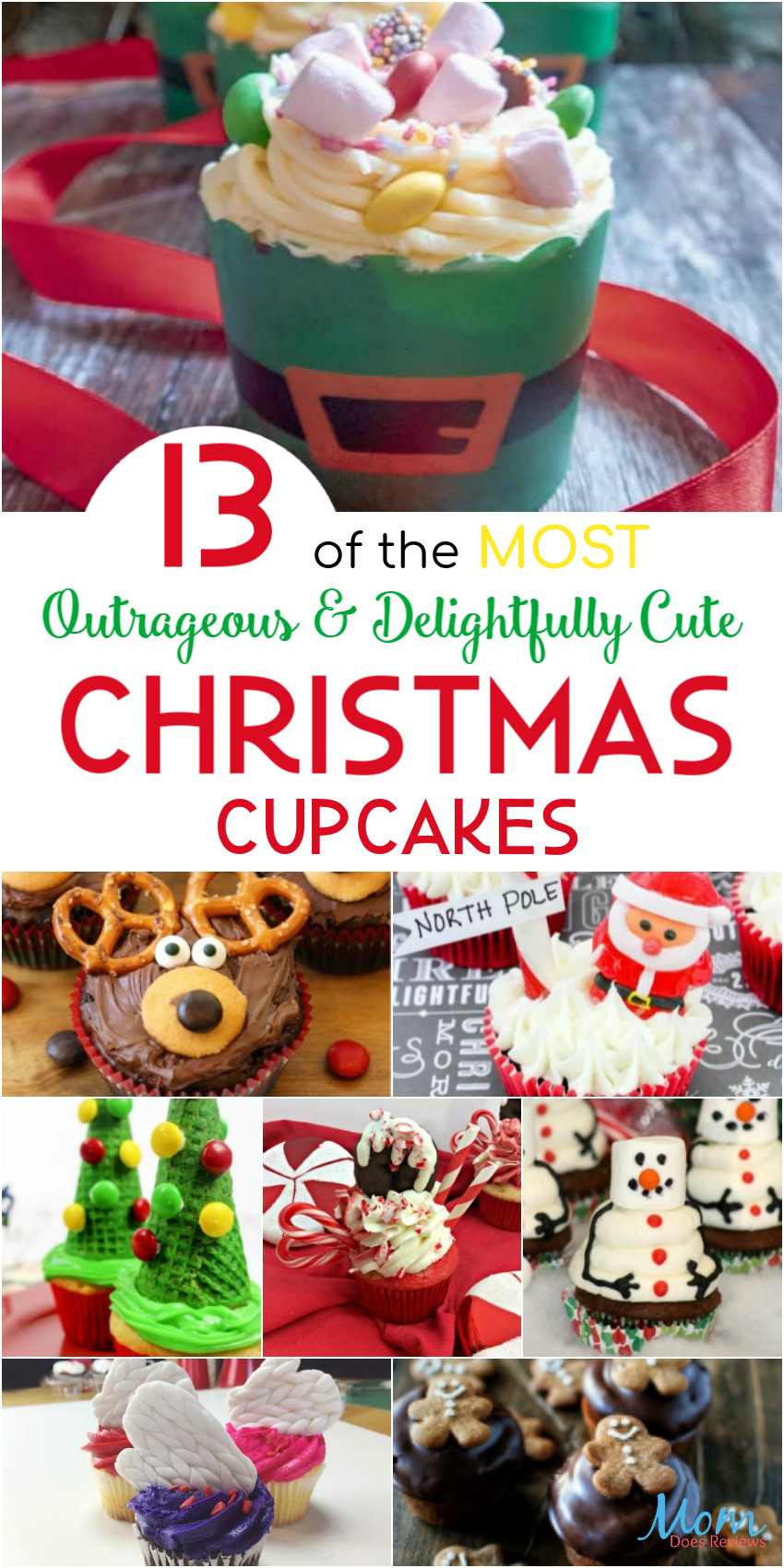 13 of the MOST Delightfully Cute & Outrageous Christmas #Cupcakes #recipes #funfood #foodie