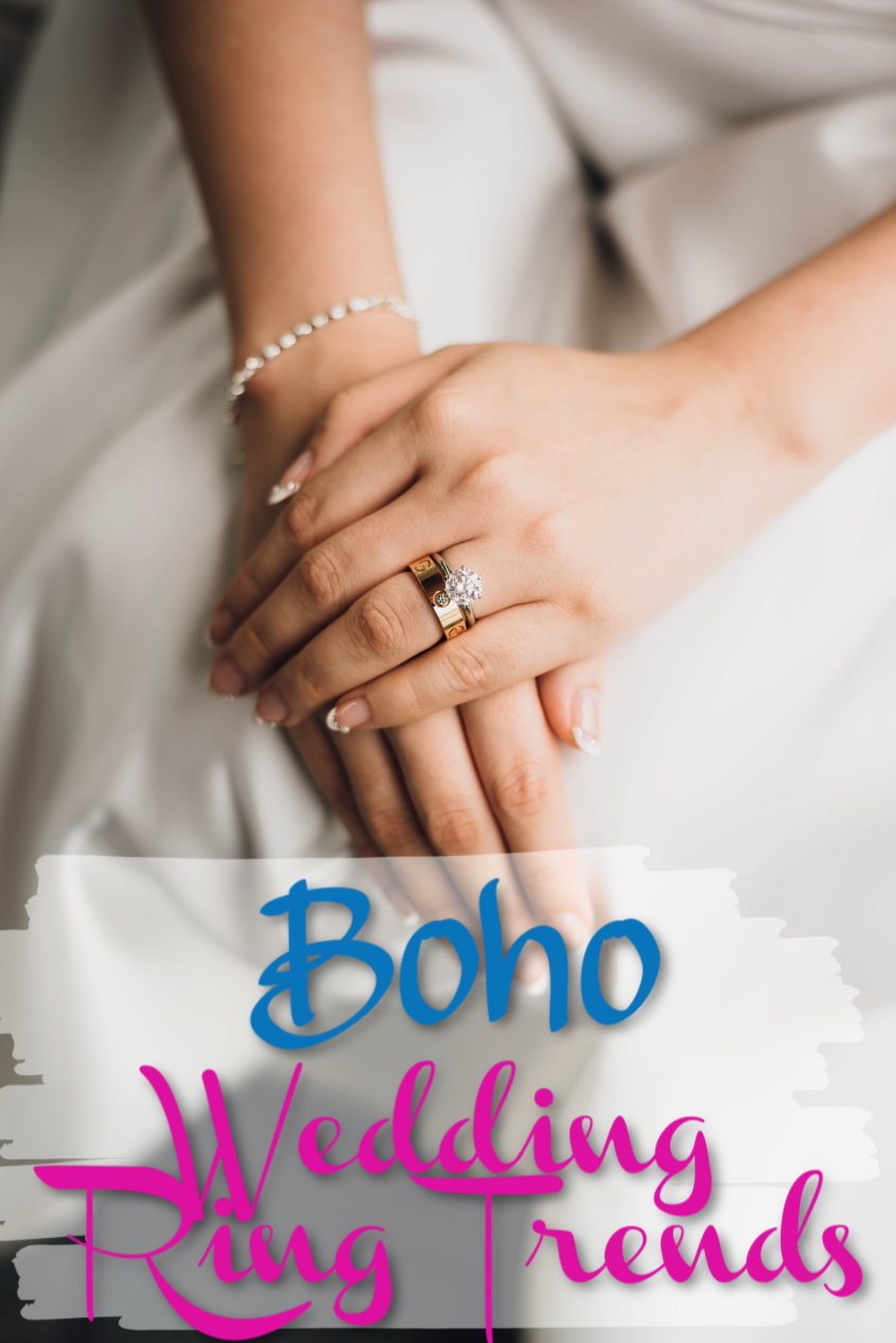 Boho Wedding Ring Trend Essentials For Your Big Day! #wedding #rings #bohochic