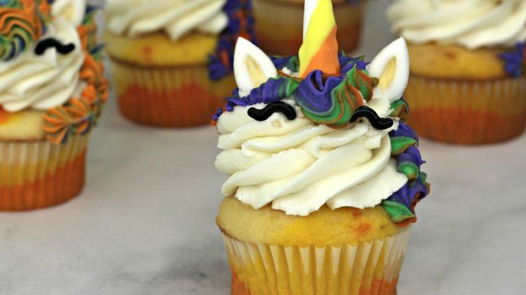 Candy Corn Unicorn Cupcakes