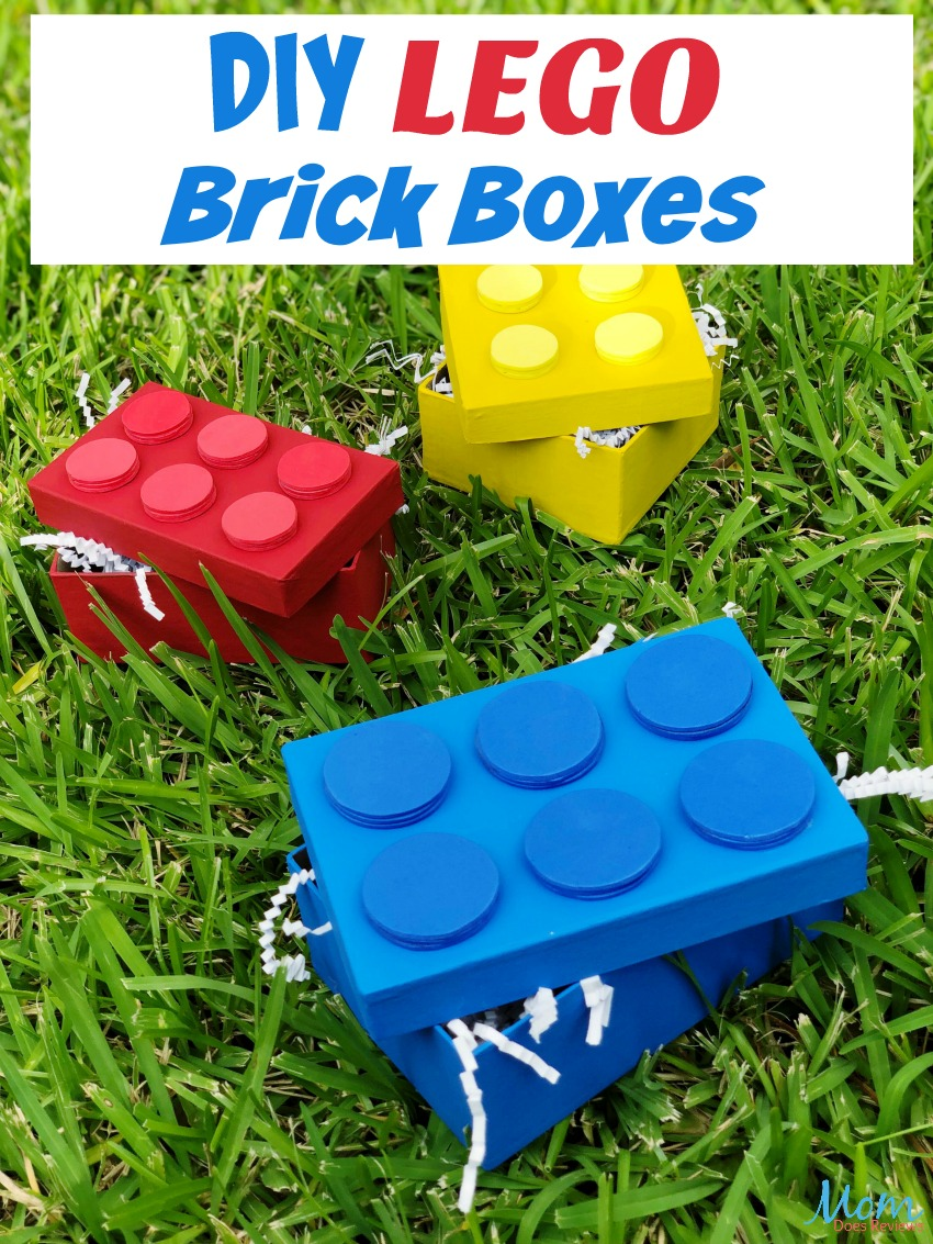 DIY LEGO Brick Boxes Tutorial #crafts #diy #LEGO