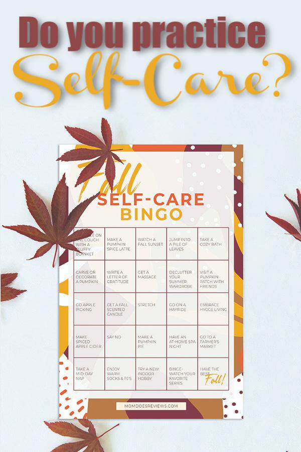 Fall Self-Care Bingo #Printable #selfcare #health