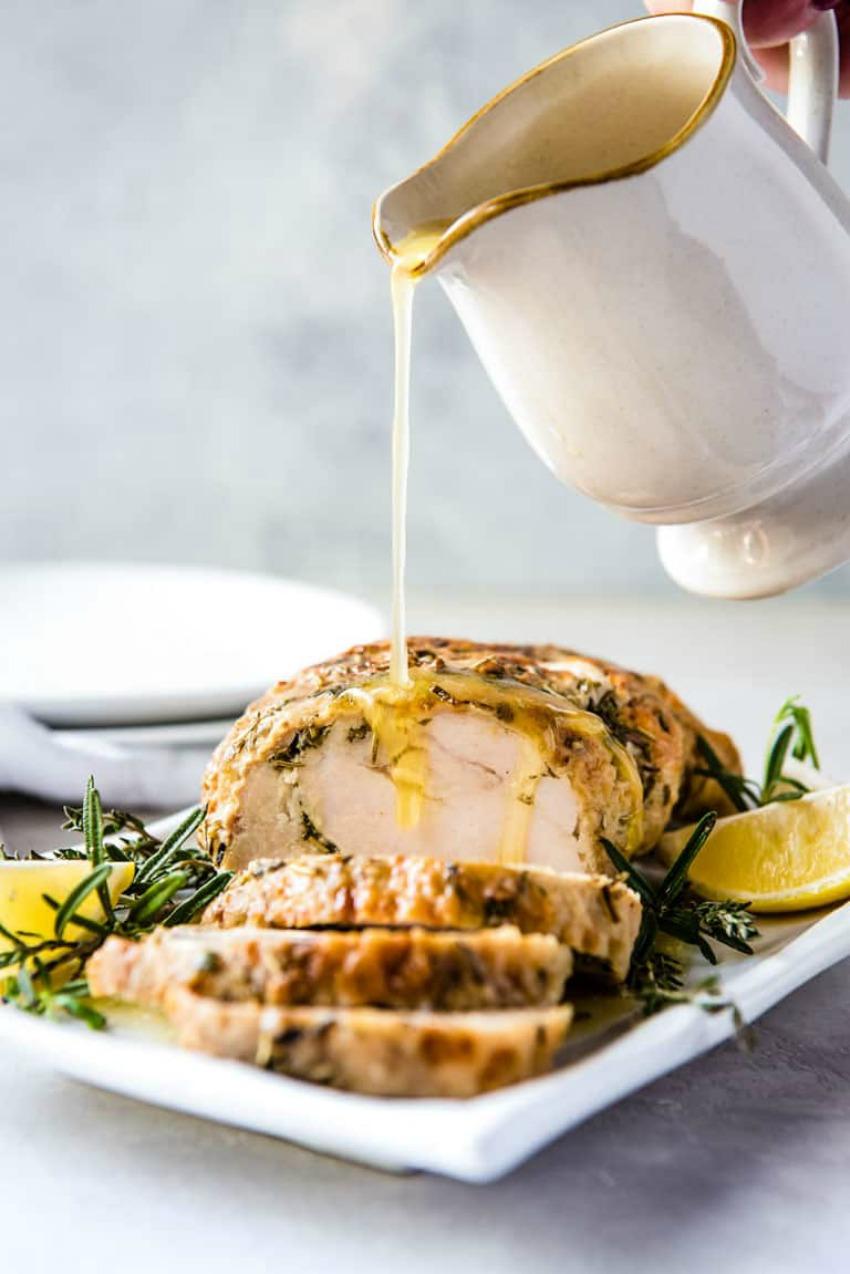 Instant Pot Turkey Breast With Garlic Butter Gravy
