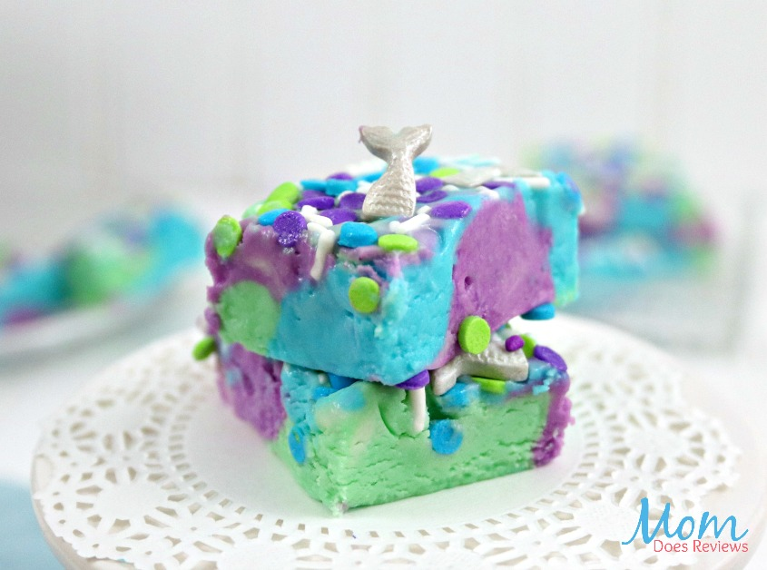 Raspberry Layered Mermaid Fudge Recipe