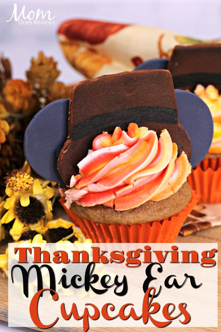 Thanksgiving Mickey Ear Cupcakes