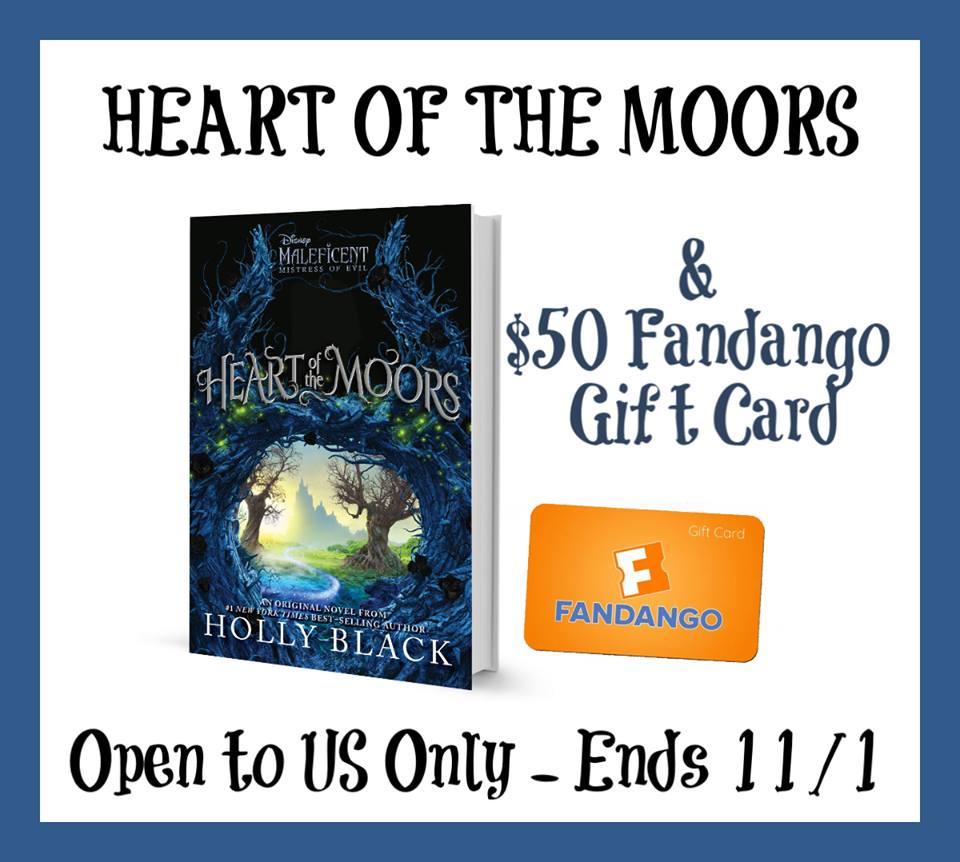 #Win $50 Fandango GC Disney's & Heart of the Moors book #HeartoftheMoors