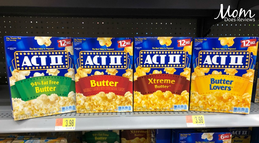 Host an At-Home-Movie Night with your Teen with Act II Popcorn from Walmart!