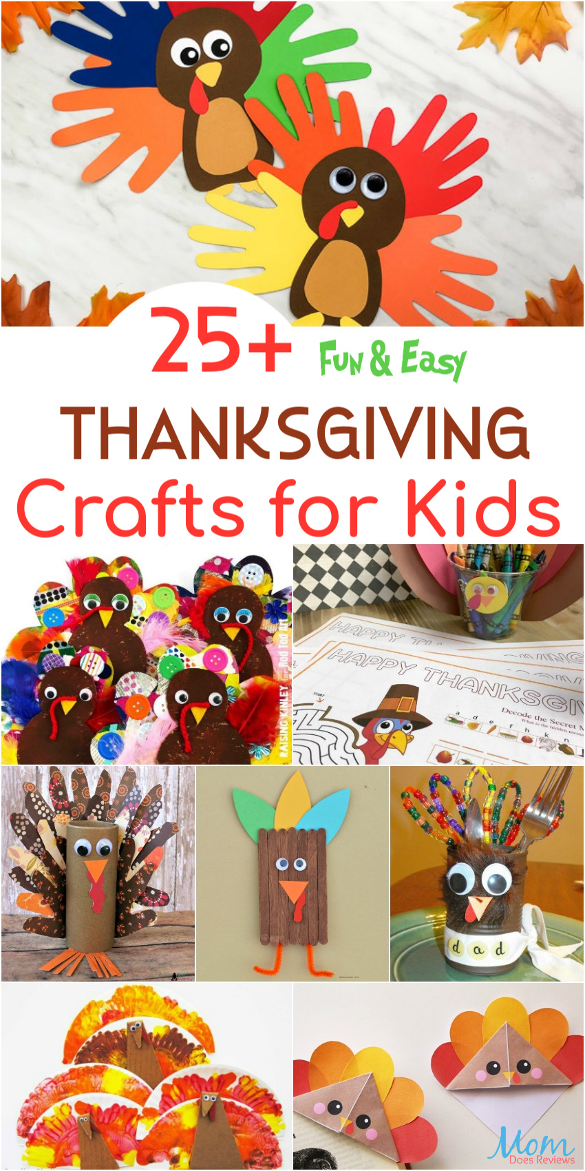 25+ Fun & Easy Thanksgiving Crafts for Kids #funstuff #thanksgiving #craftsfor kids