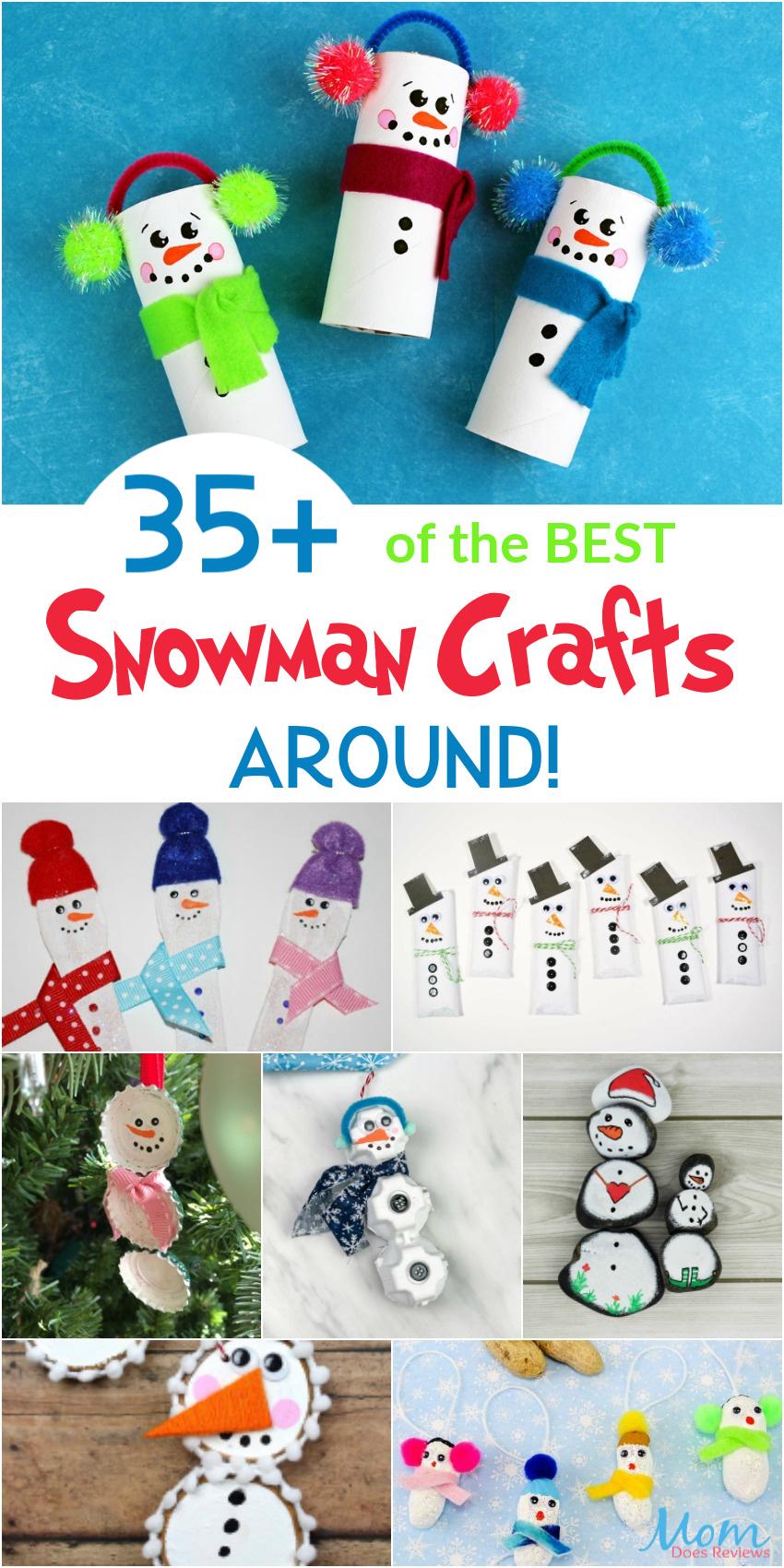 35+ of the BEST Snowman Crafts Around! #christmas #diy #wintercrafts
