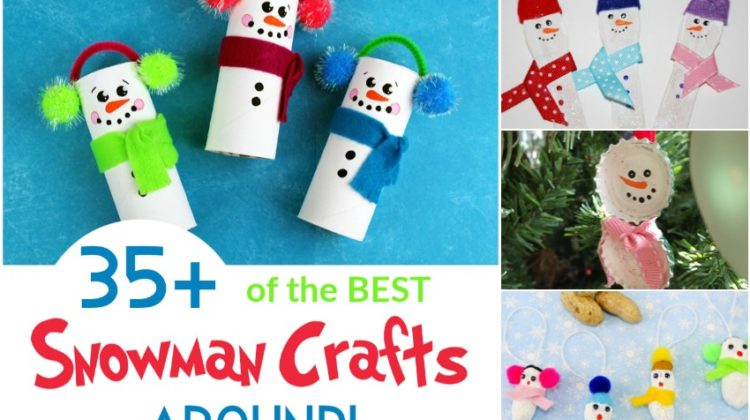 35+ of the BEST Snowman Crafts Around!