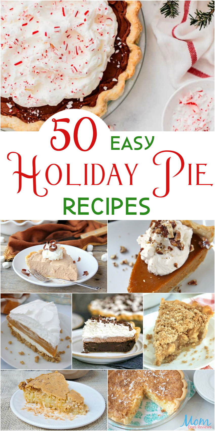 50 Easy Holiday Pie Recipes for a Sweet Addition to the Menu  #desserts #pies #sweets
