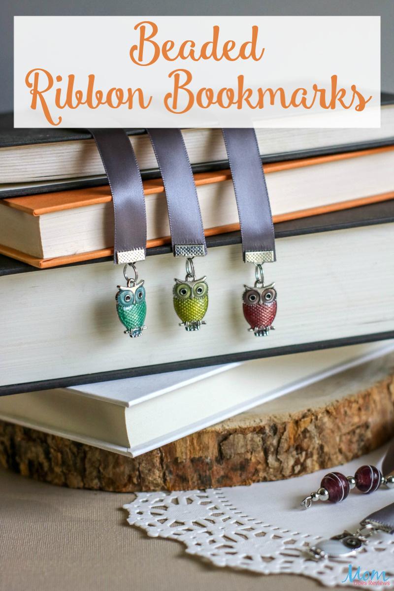 Beaded Ribbon Bookmarks #craft #diy #giftidea