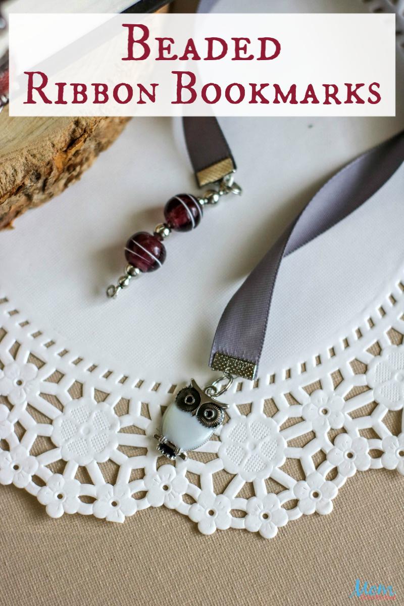 Beaded Ribbon Owl Bookmarks #craft #diy #giftidea