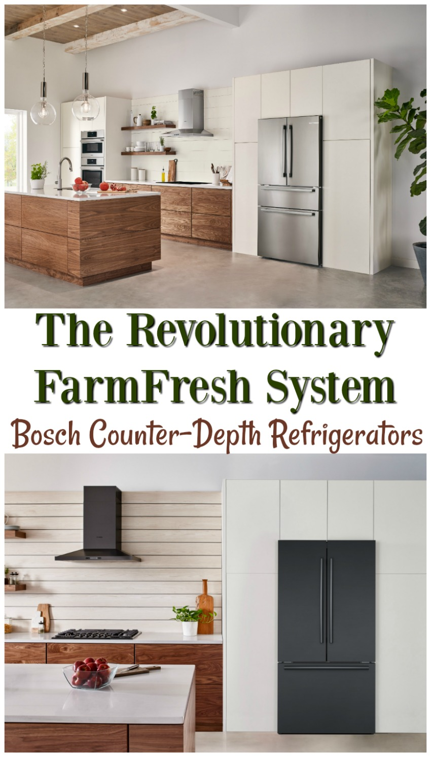 Fresh by Design.TM  It's Refrigeration, Reinvented- Bosch Counter-Depth Refrigerators at #BestBuy