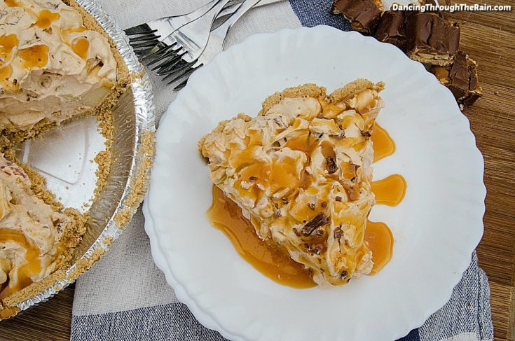 Butterscotch Snickers Pie