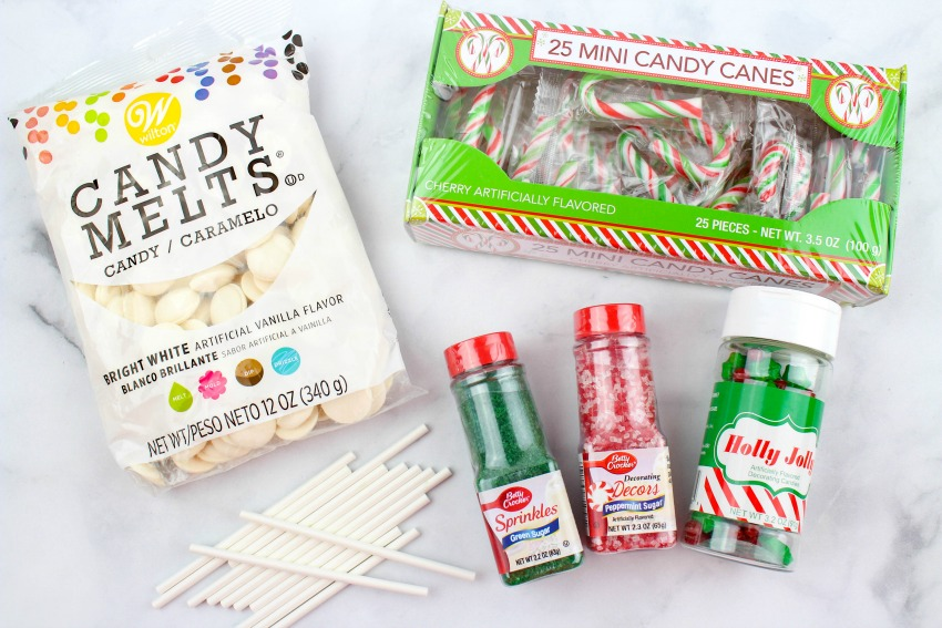 Candy Cane Chocolate Lollipops ingredients