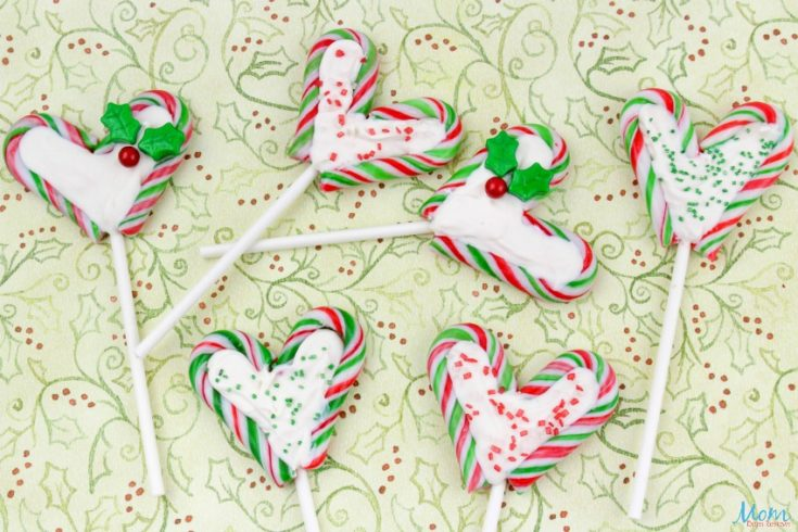 Candy Cane Chocolate Lollipops Recipe