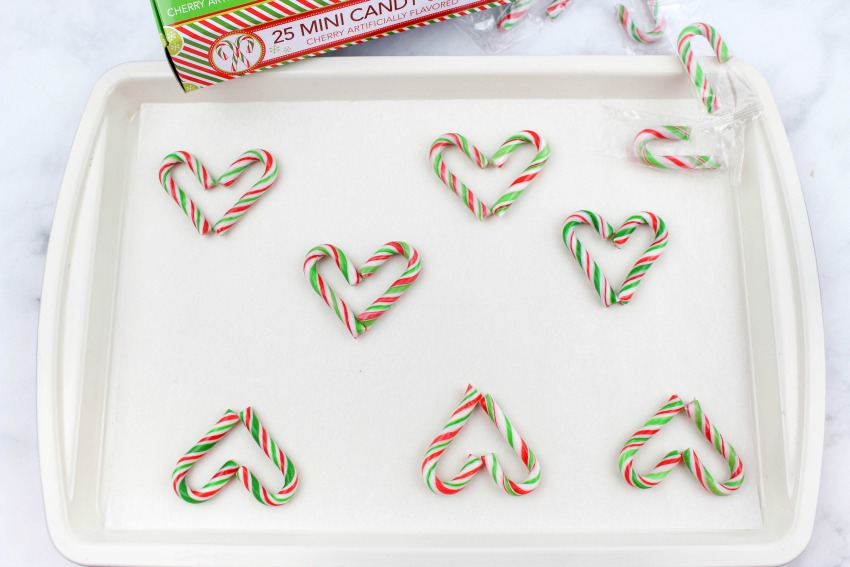 Candy Cane Chocolate Lollipops process