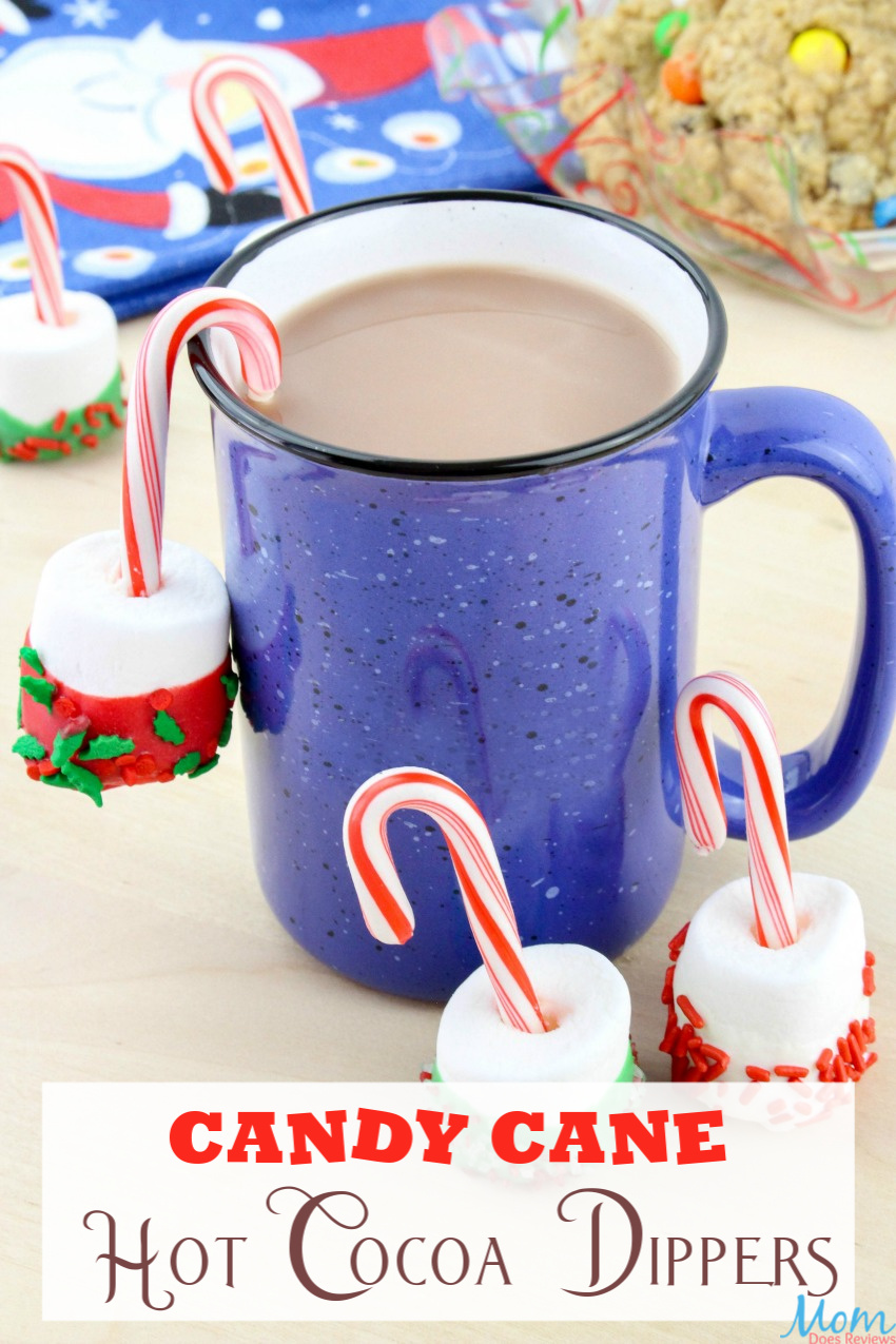 Candy Cane Hot Cocoa Dippers Recipe #funfood #christmas #hotcocoa