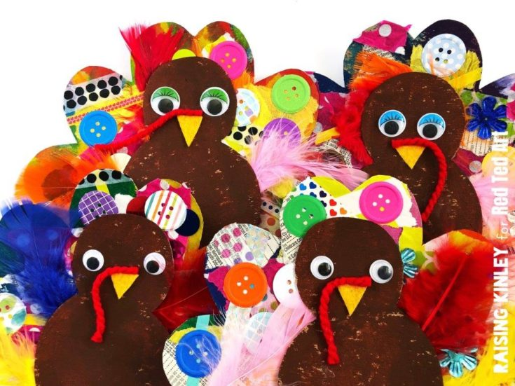 Cardboard Turkey Craft for Preschoolers