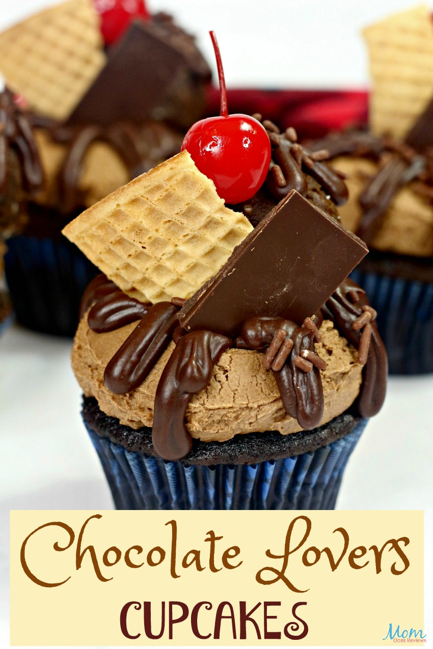 Chocolate Lovers Cupcakes #Recipe #cupcakes #sweets