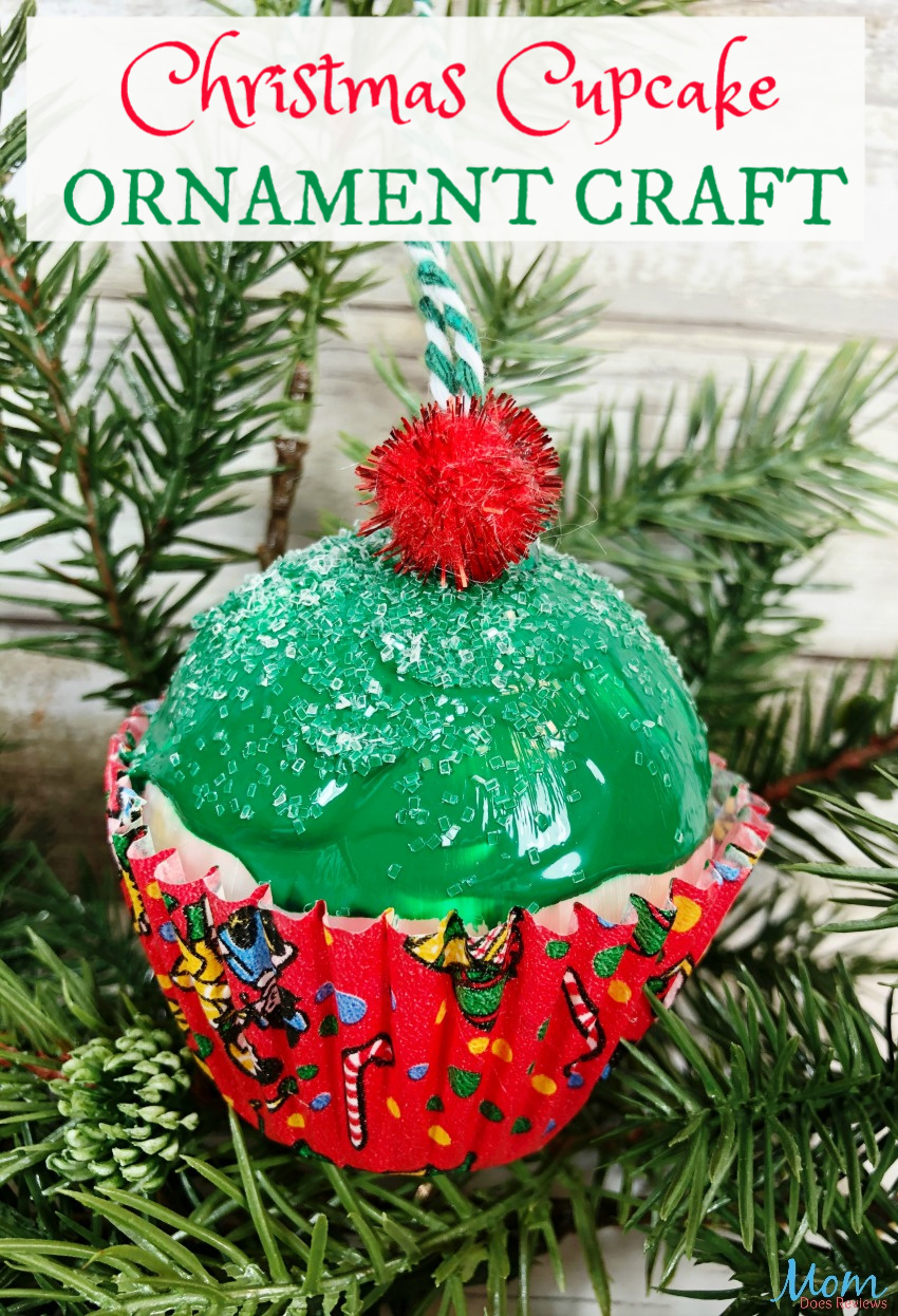 Christmas Cupcake Ornament #Craft #DIY #Christmas