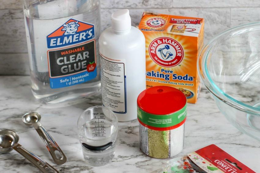 Christmas Slime - supplies needed
