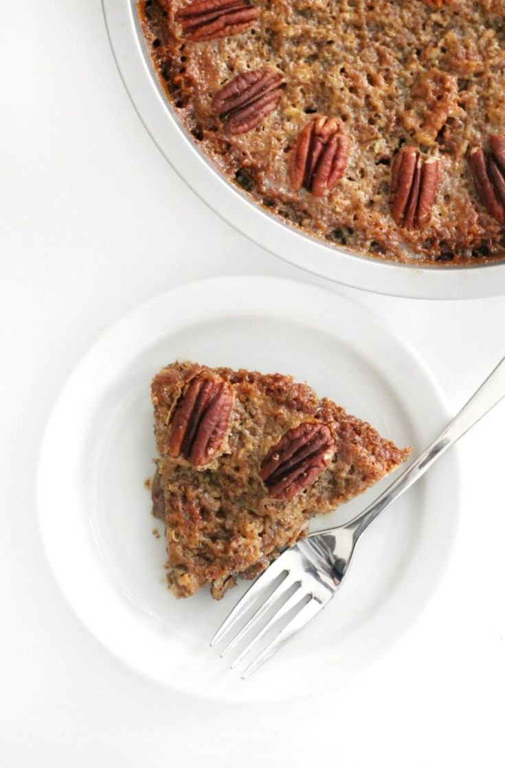 Crustless Pecan Pie without Corn Syrup (Gluten-Free, Vegan, Paleo, Keto)