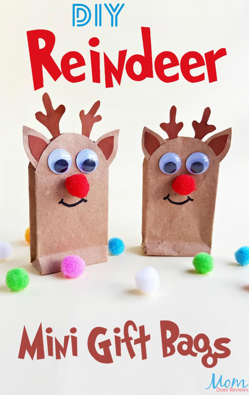 DIY Reindeer Gift Bags - A Fun Christmas #Craft! #giftbags #Christmas #reindeer