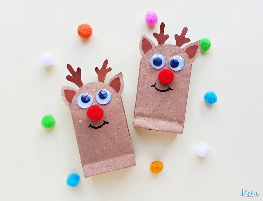 DIY Reindeer Gift Bags - A Fun Christmas Craft!