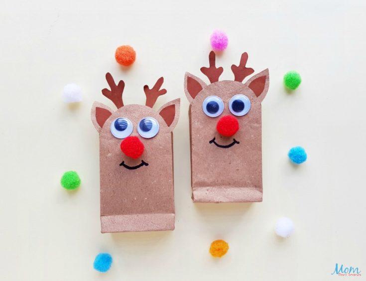 DIY Reindeer Gift Bags