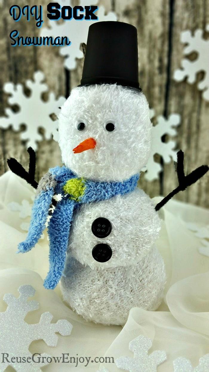 DIY Sock Snowman Craft - Easy!