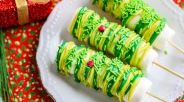 Grinch Marshmallow Pops Recipe