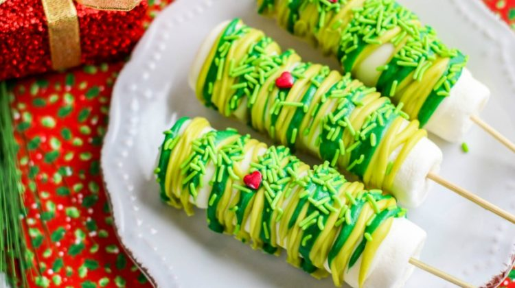 Grinch Marshmallow Pops Recipe