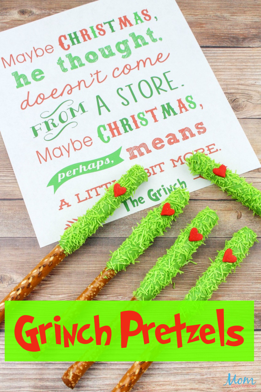 Super Adorable & Yummy Grinch Pretzels Recipe