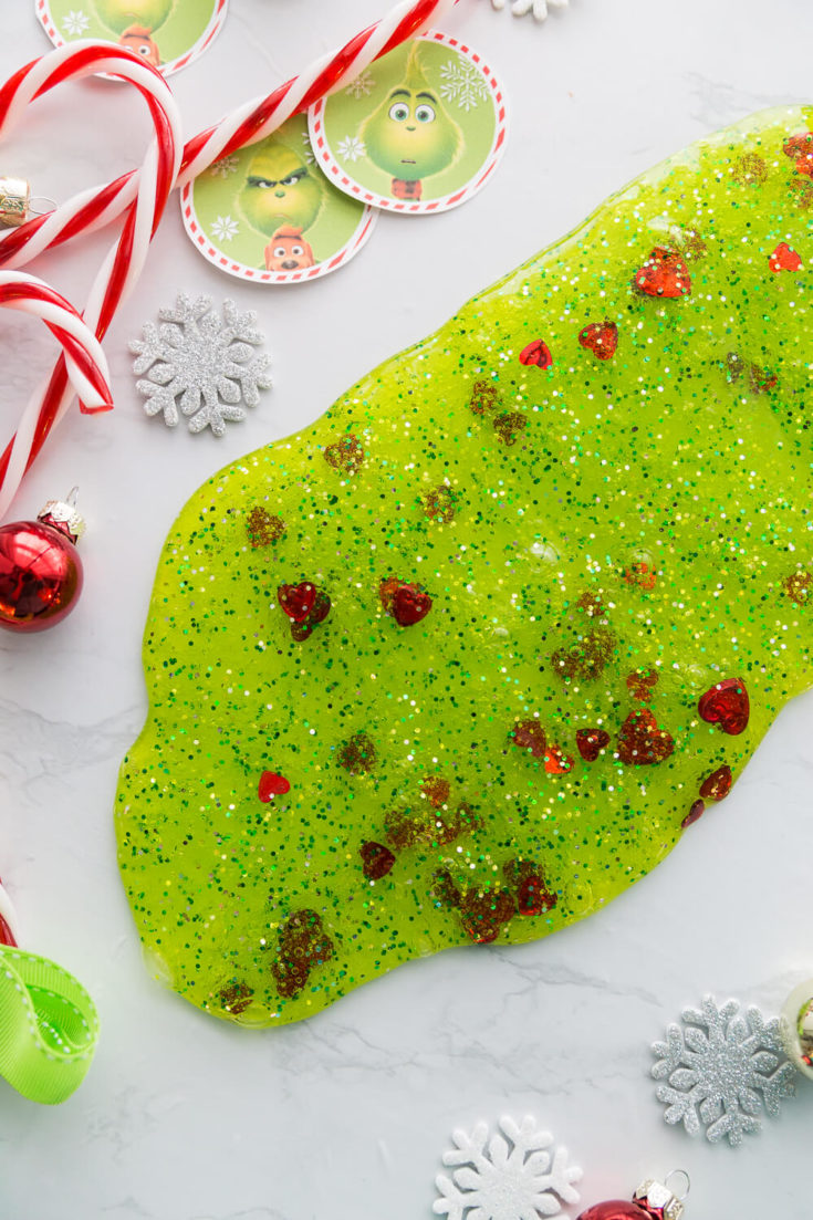 Grinch Slime Recipe for Kids