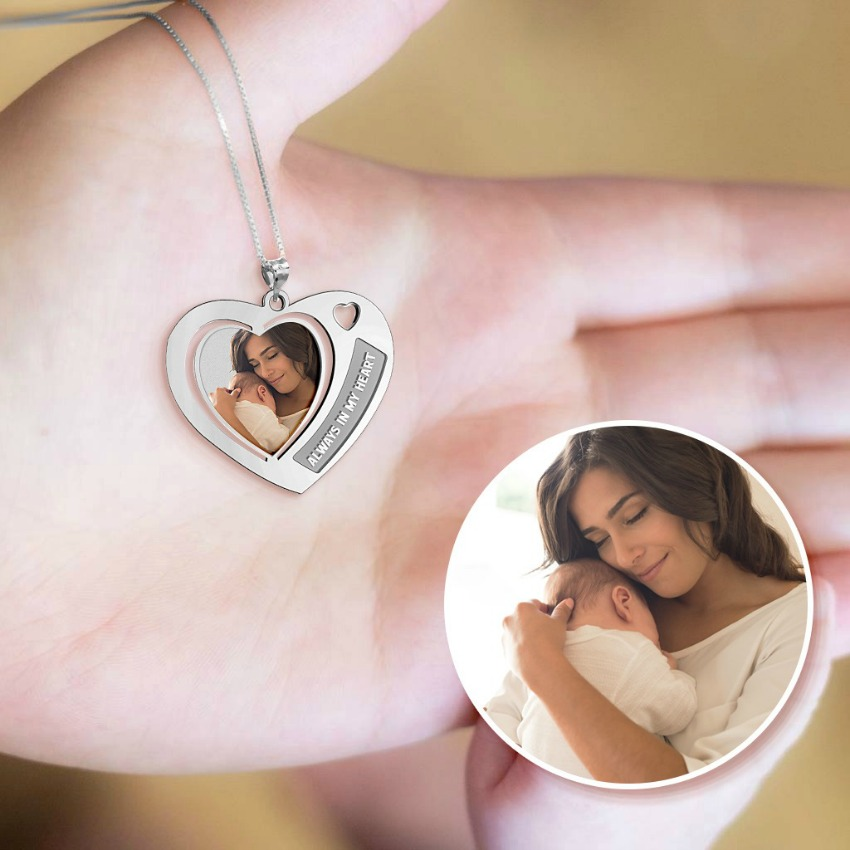 """Heart with """"Always in my Heart"""" Etched"""