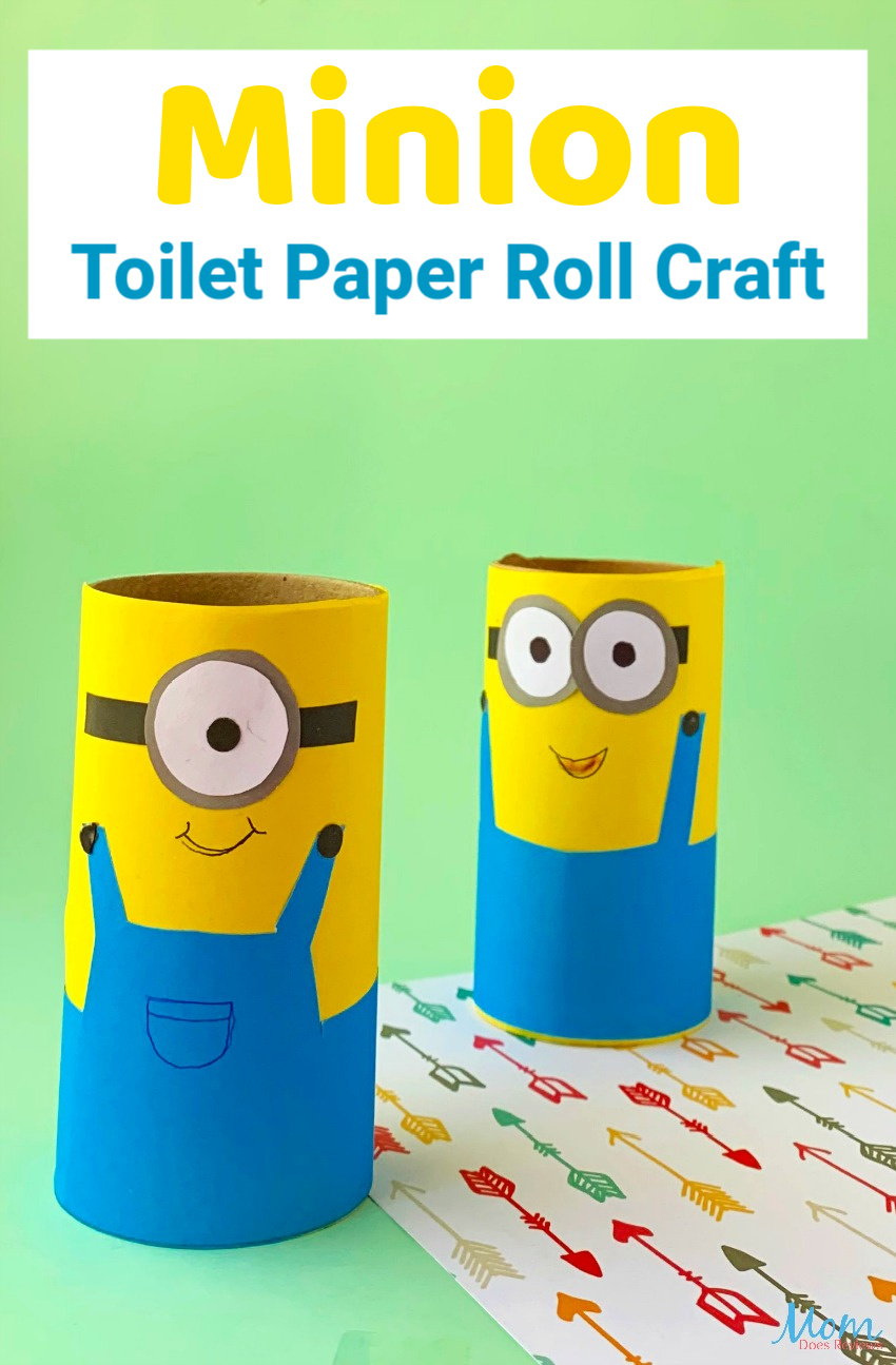Minion Toilet Paper Roll Craft for kids #craft #easycraft #minions