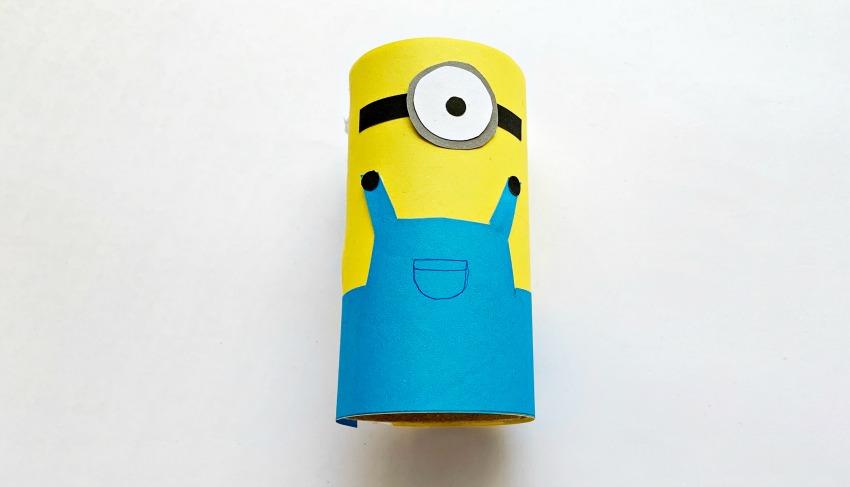 Minion Toilet Paper Roll Craft process