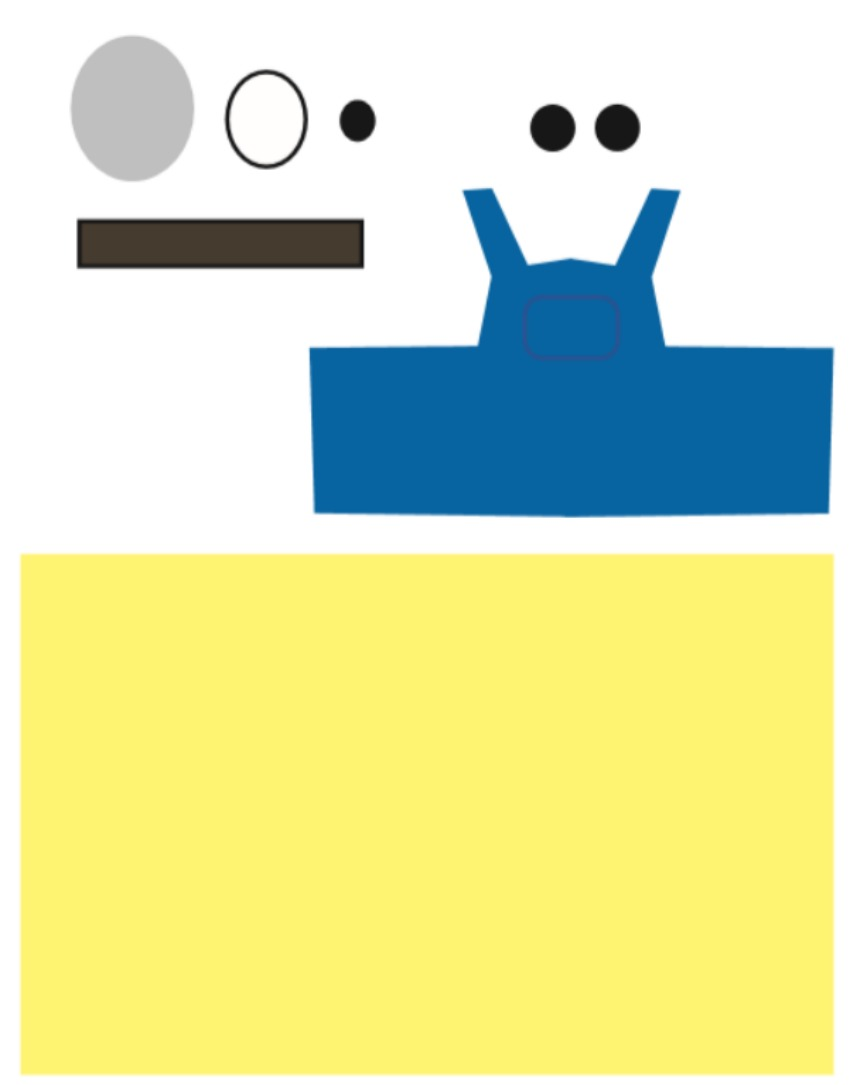 Minion Toilet Paper Roll Craft template