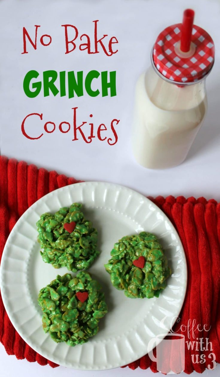 No Bake Grinch Cookies